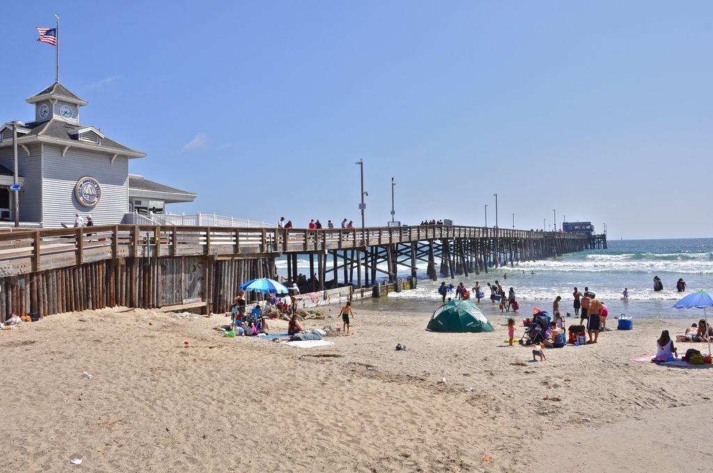 The Pier At Newportbeach California Beach Sand Sun Vacation
