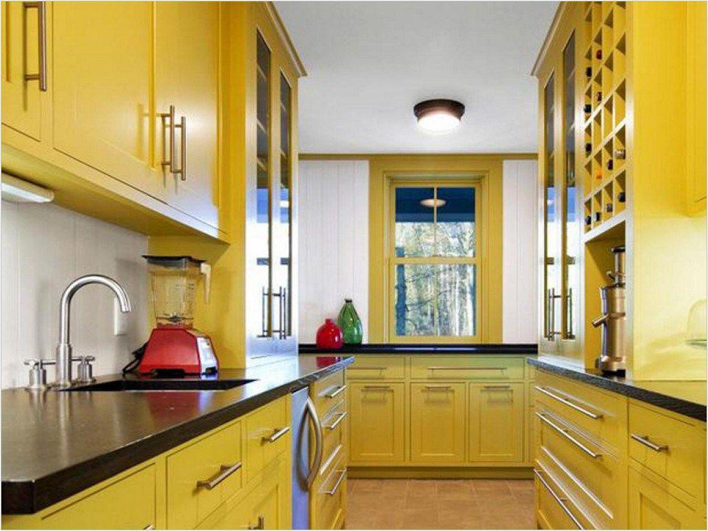 Yellow Kitchen Ideas With Nice Interesting Design   hondudiariohn ...