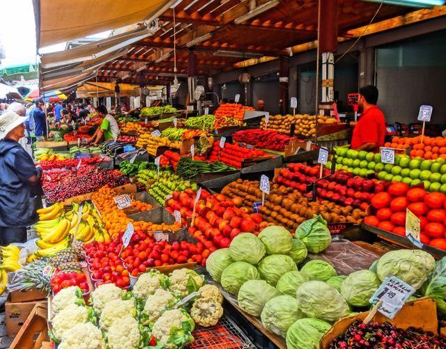 athens fruit and vegetable market greece here we come. Black Bedroom Furniture Sets. Home Design Ideas