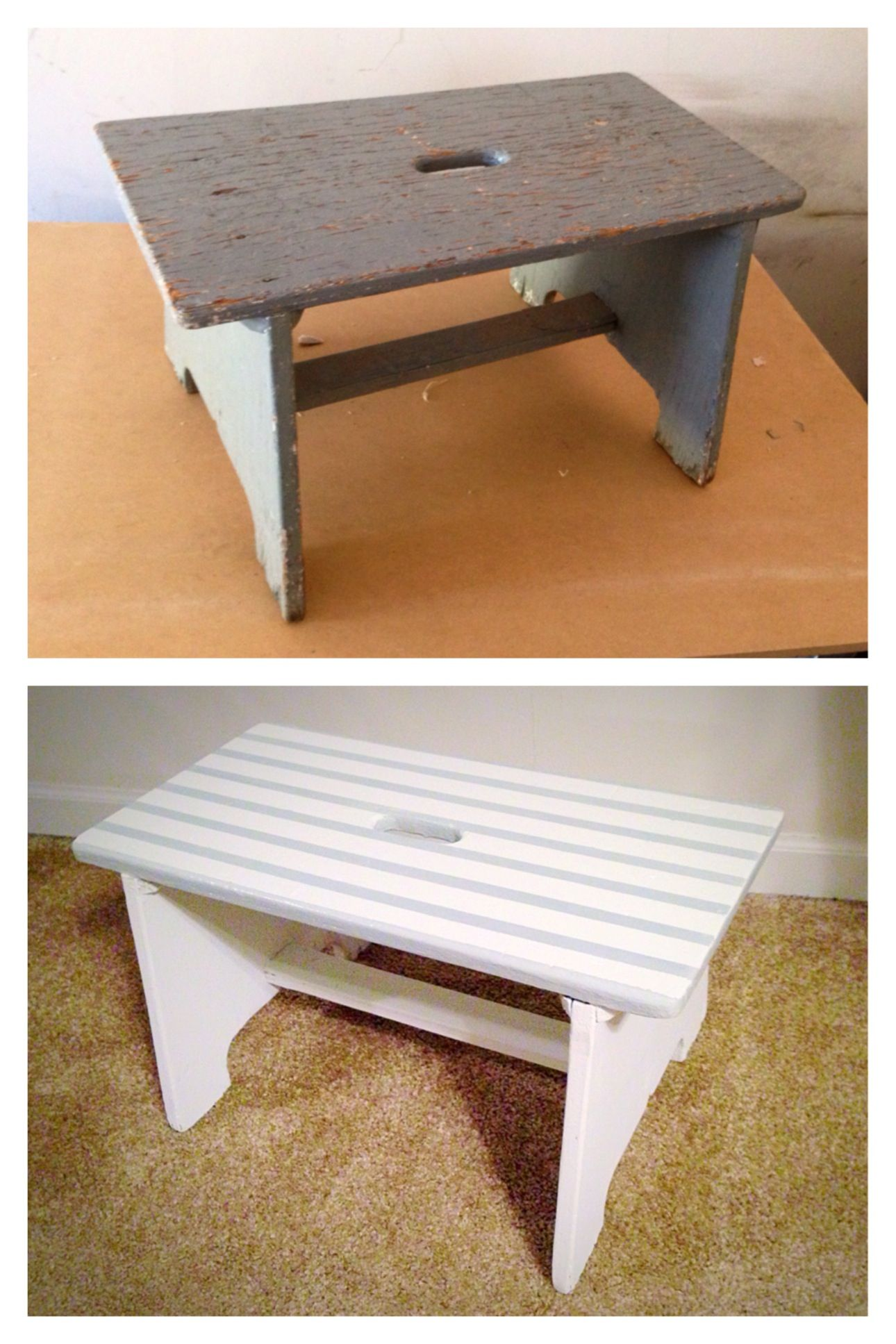 Mini Bench Before And After Repurposed Benches Seat Sofa