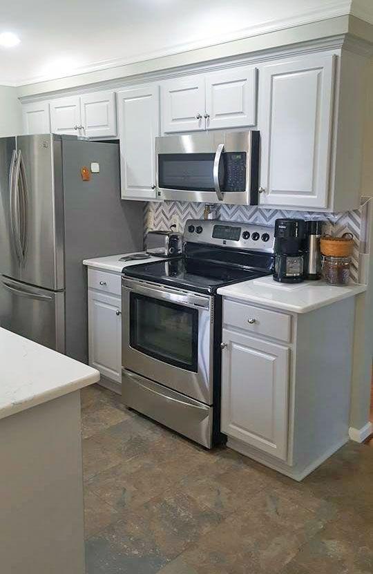 Best Golden Oak To Seagull Gray Kitchen Transformation 400 x 300