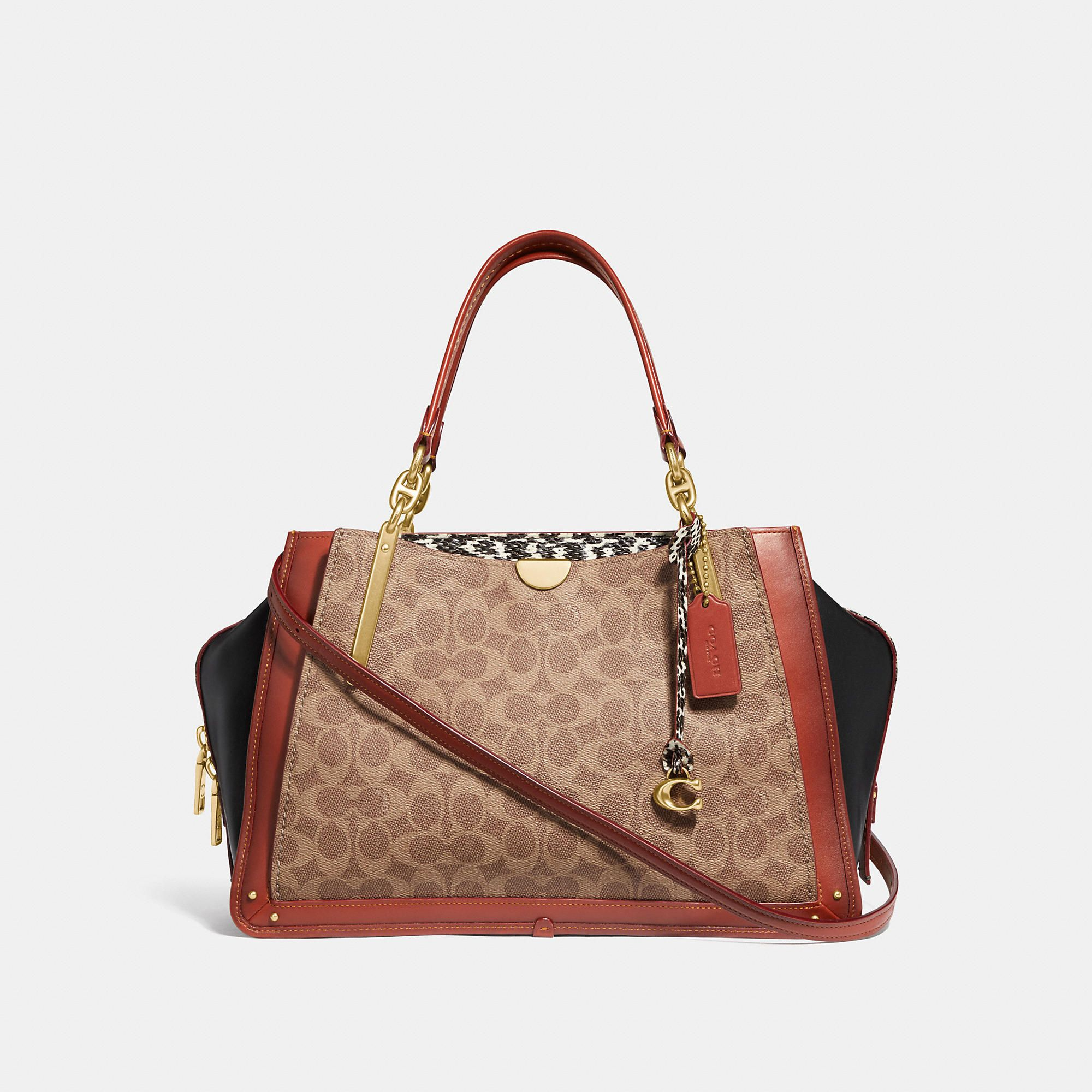 7506d403 COACH Dreamer 36 In Signature Canvas With Snakeskin Detail - Women's ...