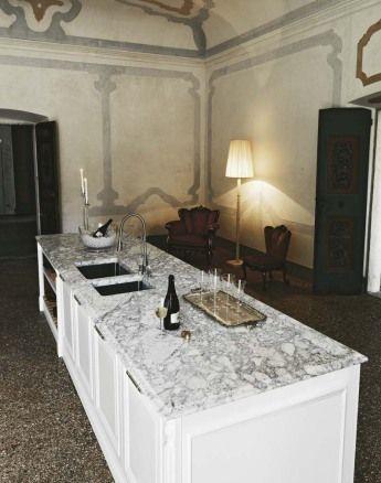 Honed Matt White 4 Cm Thick Carrara Marble Top With Elite Shaped