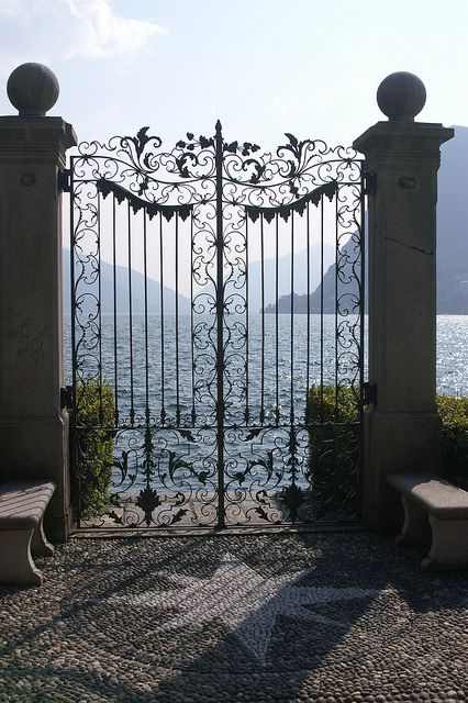 Lugano. A picture in front of the Fairy Gate [we call it that way] is a must!