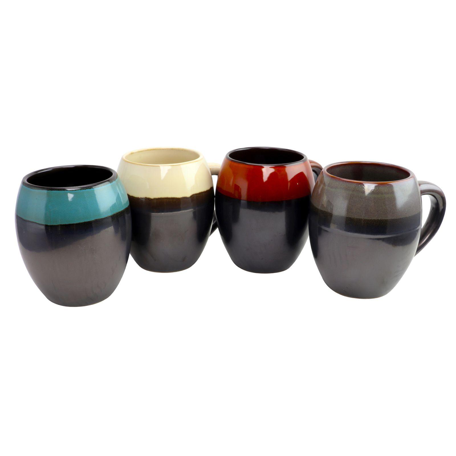 65317777c9b Gibson Home Soroca 4 Piece 19.5 oz Mug Set in Assorted Colors in ...