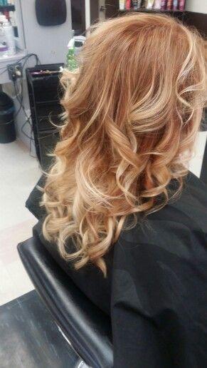 Copper To Blonde Ombre Hair Summer 2015 Hair Haarfarben Frisur