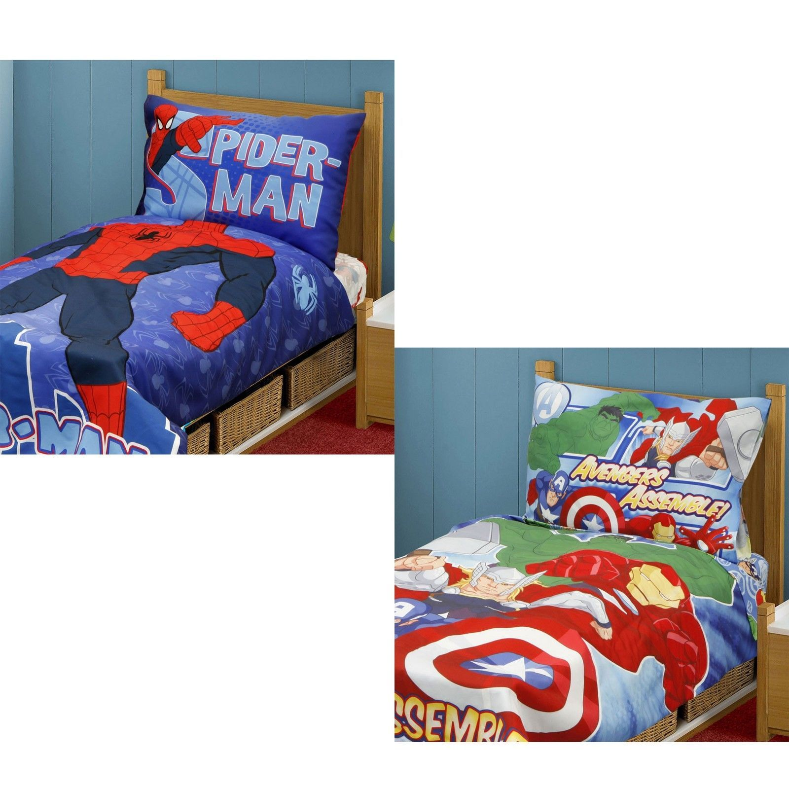 Bedding Sets 66731 New Marvel Superhero Toddler Bedding Set