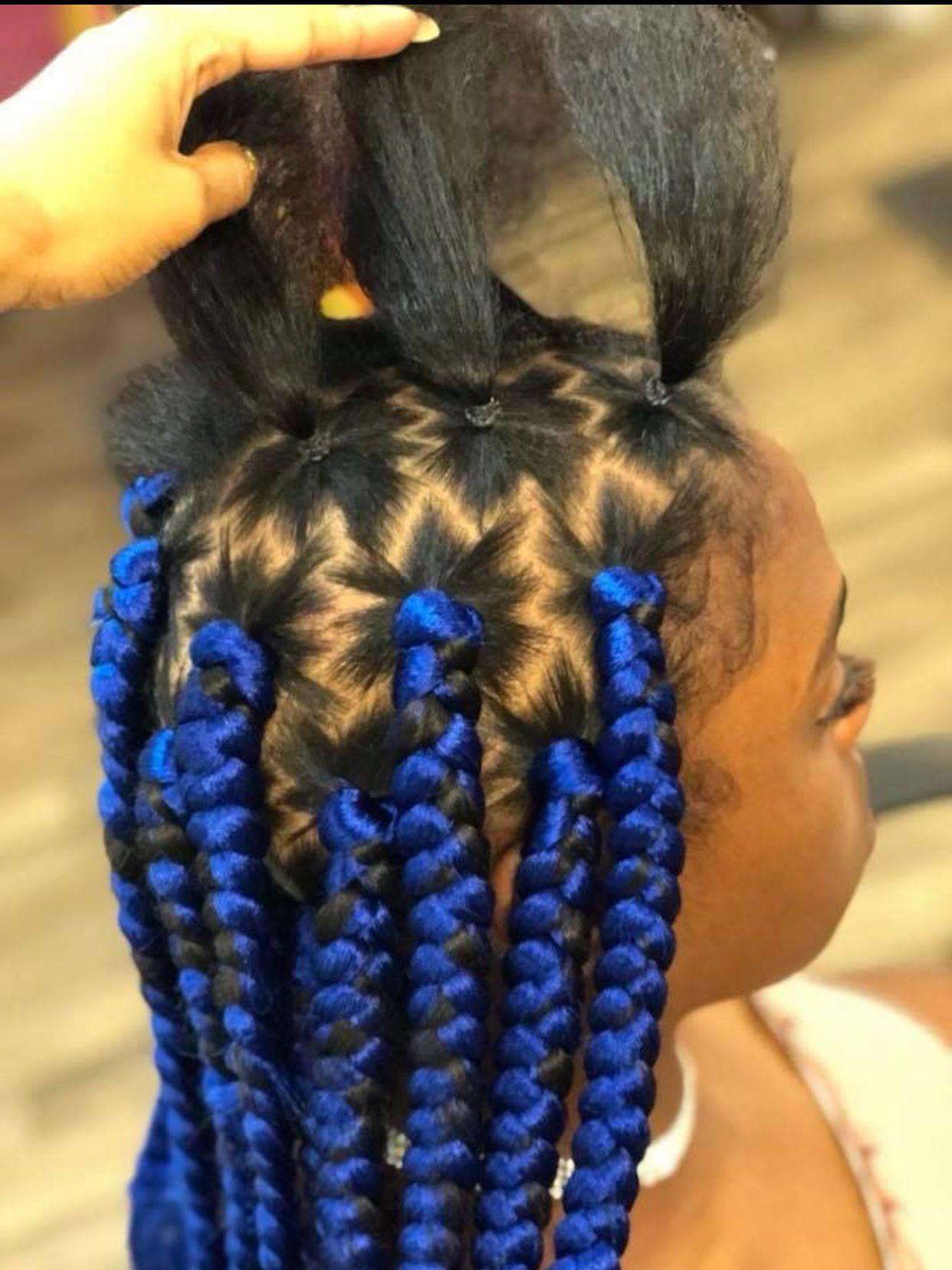 Parts Box Braids Styling Natural Hair Styles Hair Styles