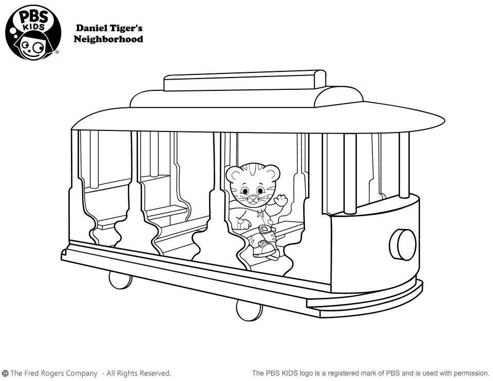 Daniel Tiger coloring page | kids stuff | Pinterest