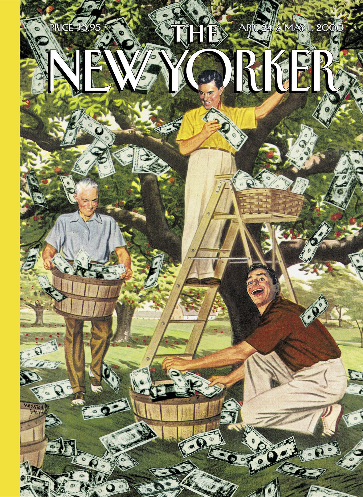 "The New Yorker - Monday, April 24, 2000 - Issue # 3887 - Vol. 76 - N° 9 - «  The Money Issue » - Cover ""The Money… 