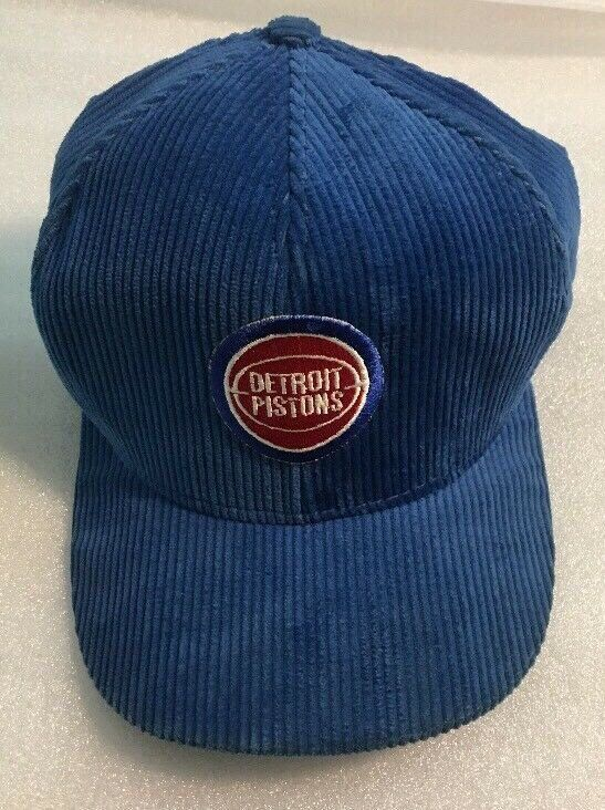 25d18995b0bee7 Excited to share this item from my #etsy shop: Vintage Detroit Pistons NBA  Basketball Corduroy Snapback Hat Cap Blue USA