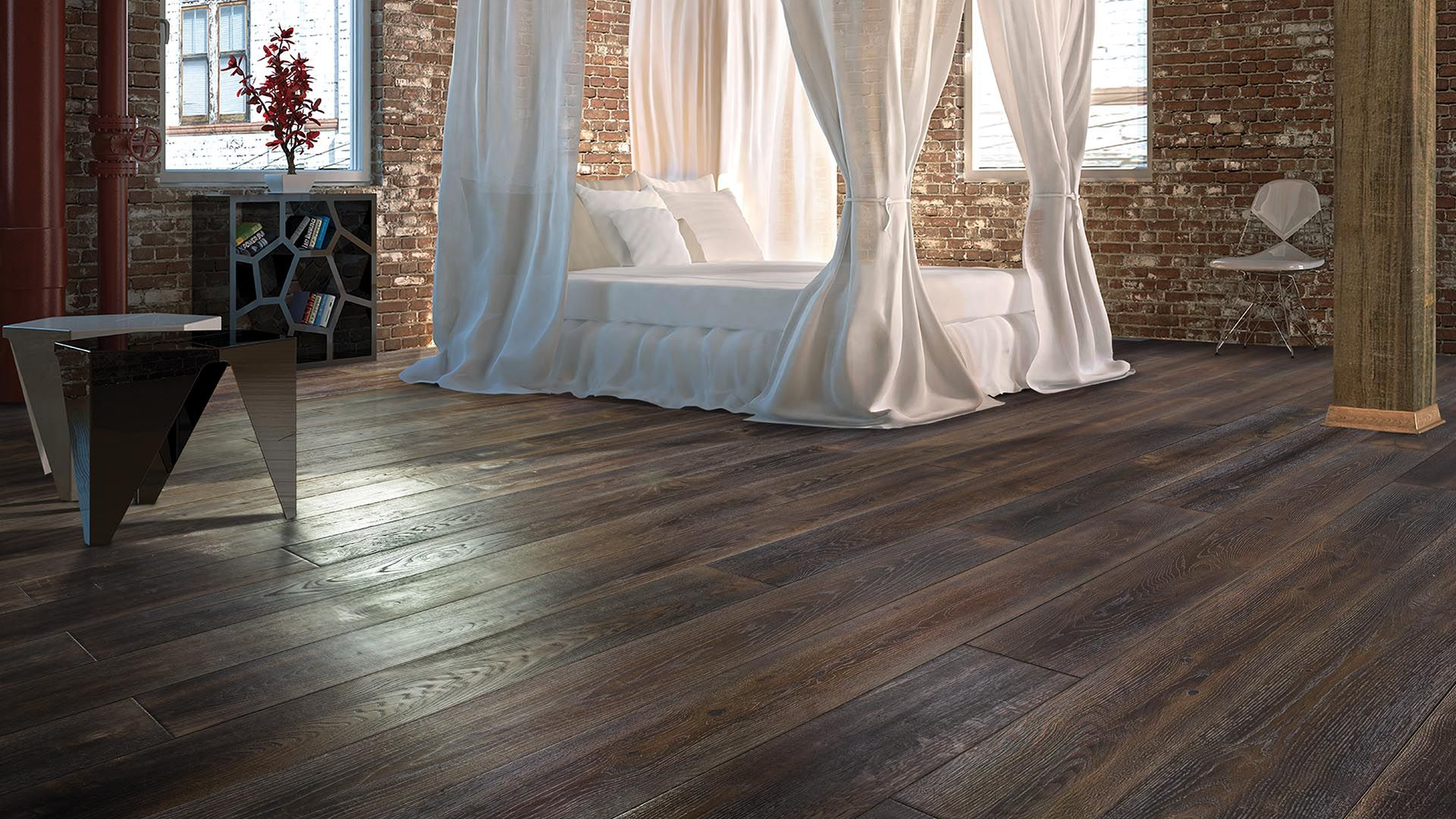 Baroques vintage hardwood flooring captures the essence and beauty of europes renaissance era with its antiquing and aged reclaimed european oak style