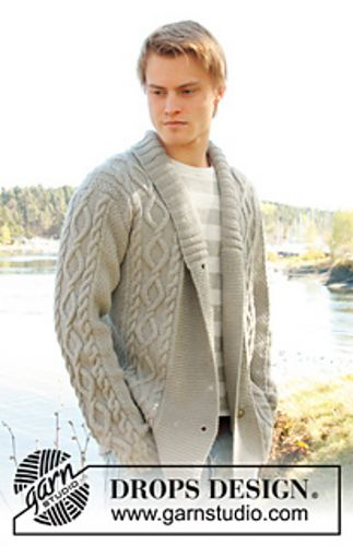 Ravelry: 0-850 Men\'s jacket with cable pattern and shawl collar in ...