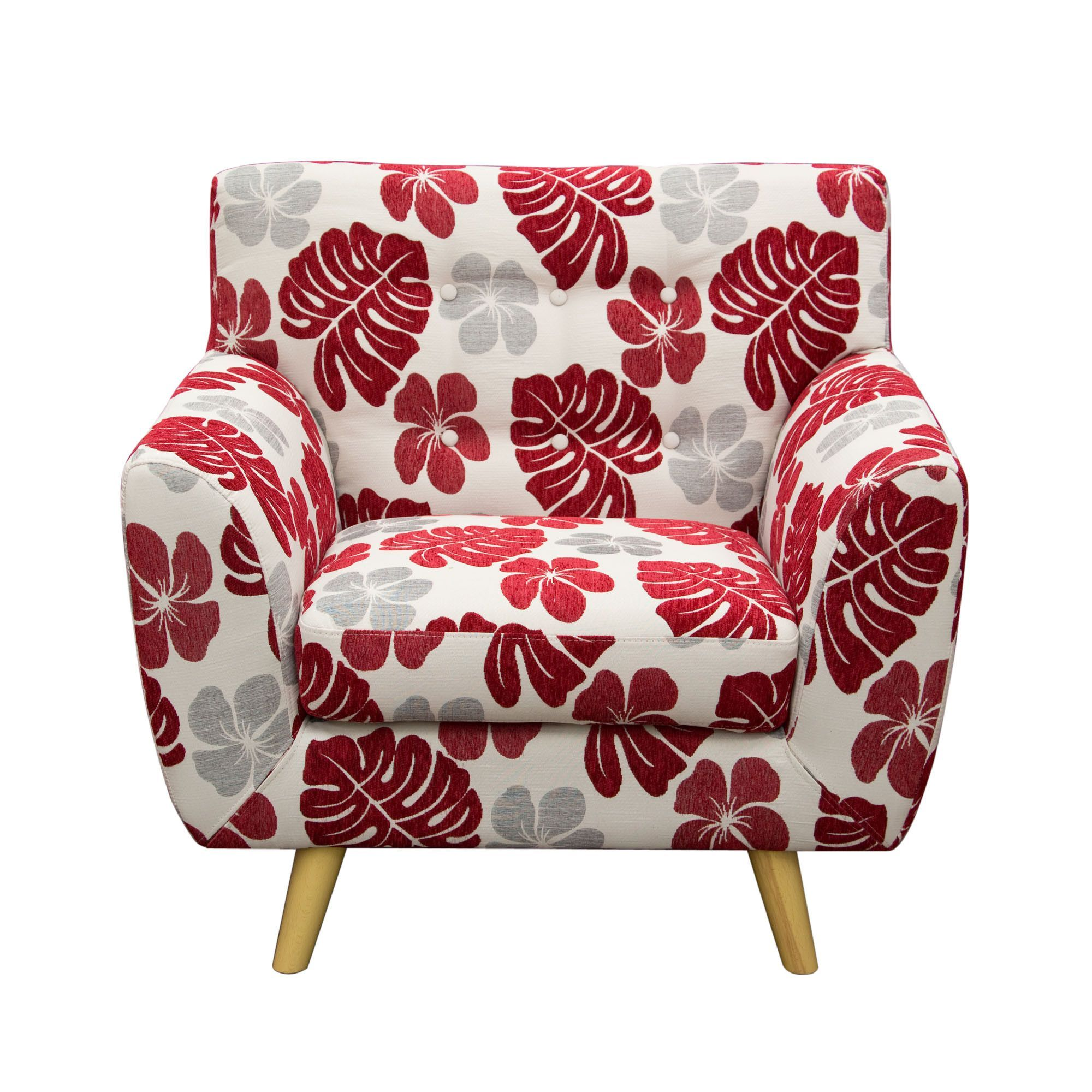 scarlett patterned fabric accent chair by diamond sofa