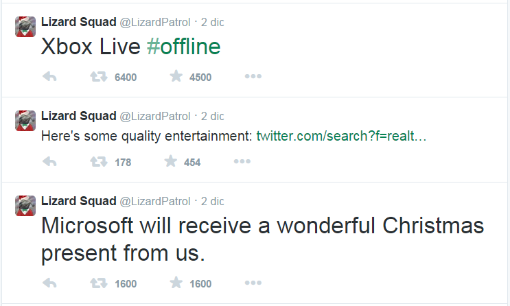 Xbox Live service brought down by a DDoS attack run by The