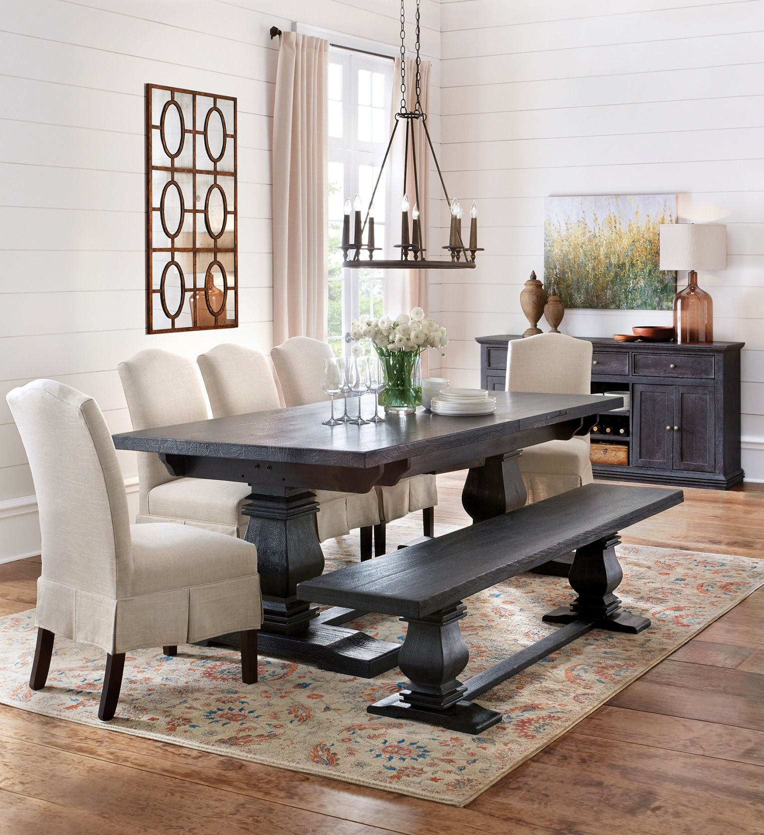 Aldridge Antique Grey Extendable Dining Table Dining