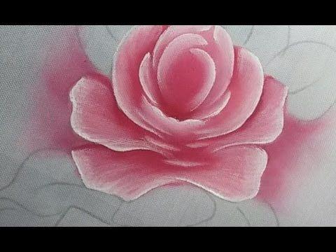 Como Pintar Folhas Rosas E Hortênsias Pintura Em Tecido Youtube
