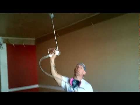 Spraying Ceilings With An Airless Sprayer Spray Paint Wall Painted Ceiling Paint Sprayer