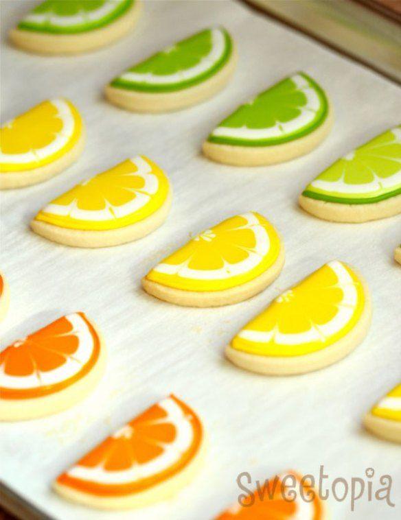 How to make citrus cookies (Sweetopia).