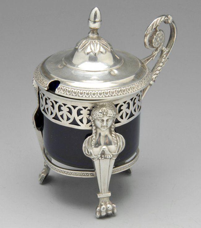 A French silver mustard pot by Jean-Pierre Bibron. : Lot 321