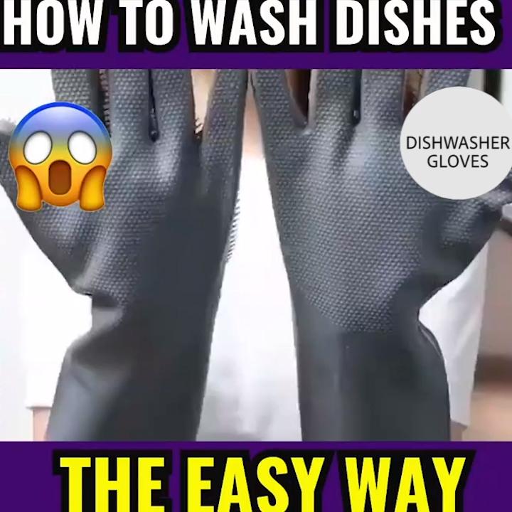 Photo of MAGIC CLEANING DISHWASHING GLOVES