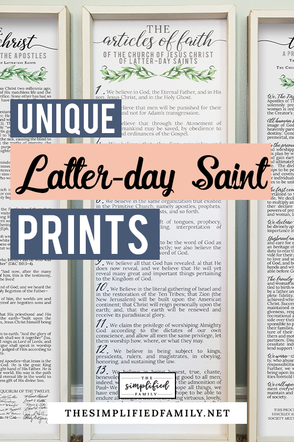 Latter Day Saint The Articles Of