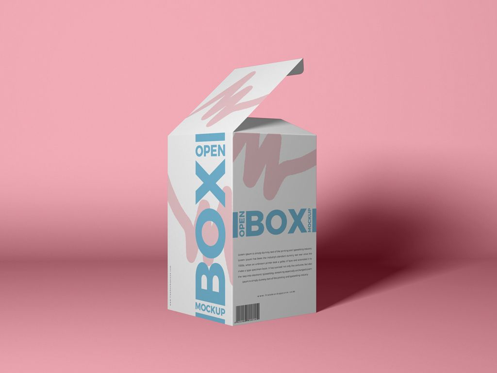 Download Free Packaging Open Box Mockup Psd Box Mockup Packaging Mockup Box Packaging Design
