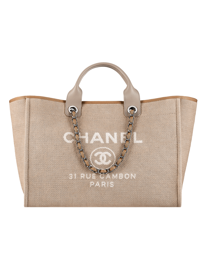 Large toile shopping bag - CHANEL