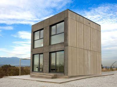 Casa minimalista y economica en forma de cubo fachadas for Casa tipo minimalista