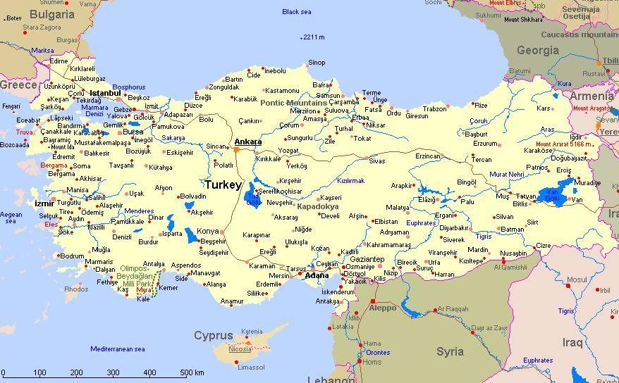 Kaart Van Turkije Met Afbeeldingen Turkije Vakanties Vakantie