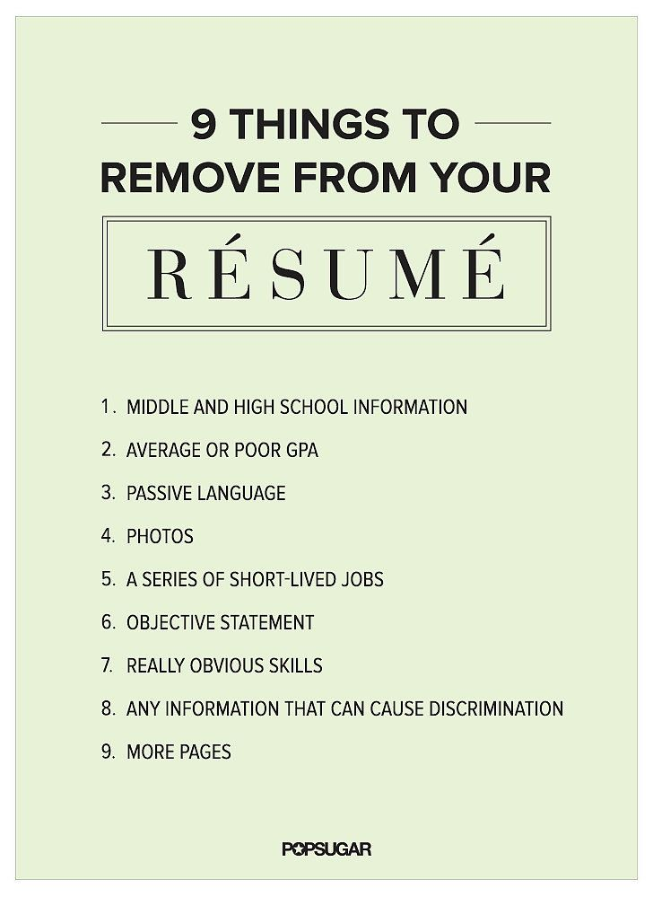 9 Things to Remove From Your Résumé Right Now Good to Know - 9 resume mistakes to avoid