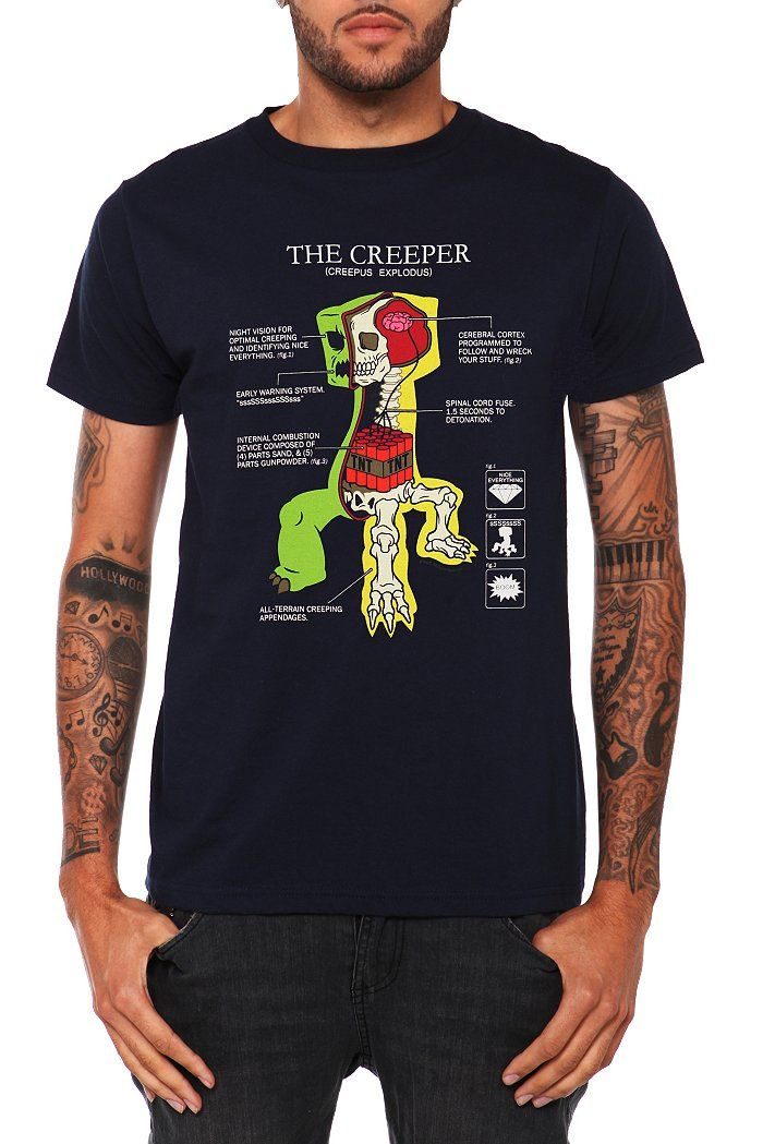 The anatomy of a creeper- Minecraft T-Shirt. I think this is my ...
