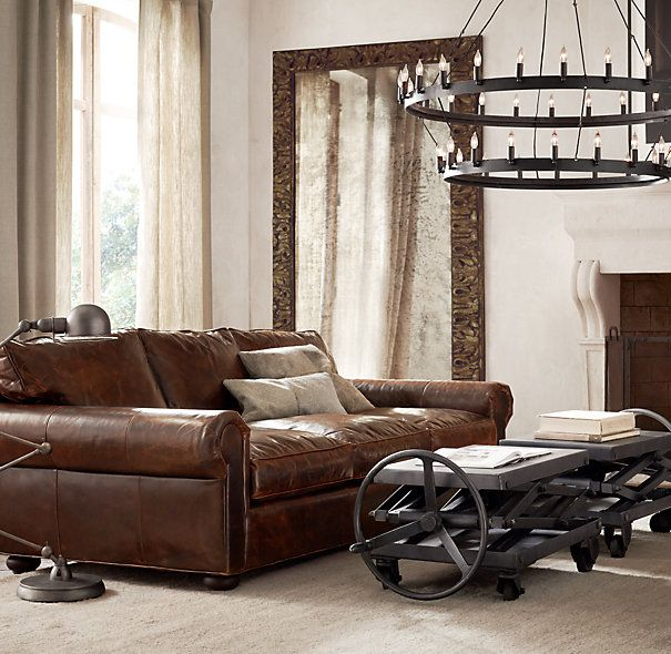 Original Lancaster Leather Sofa Leather Sofa Living Room Home
