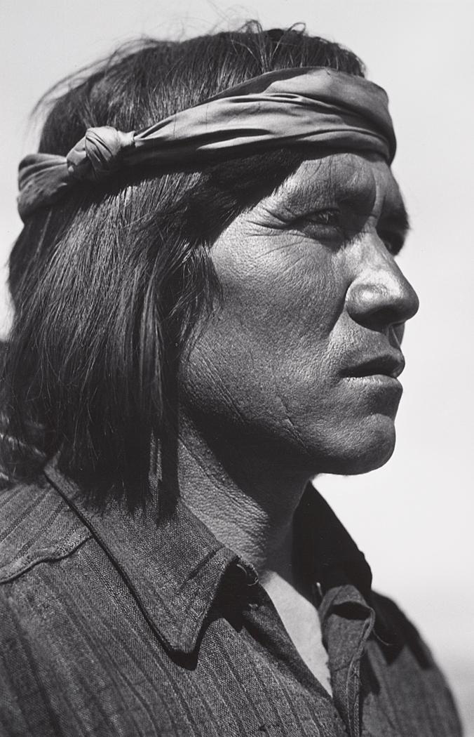 1929 Juan Ponchos, Santo Domingo Pueblo, New Mexico by Ansel Adams
