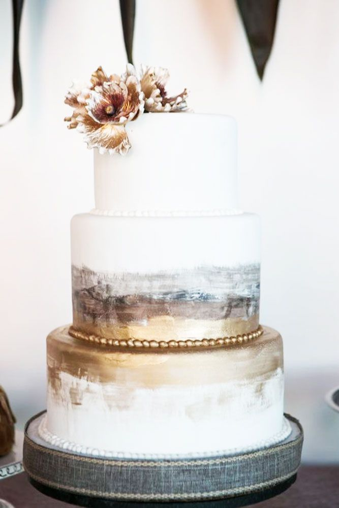 36 The Most Popular Elegant Wedding Cakes Cakes Painted Wedding