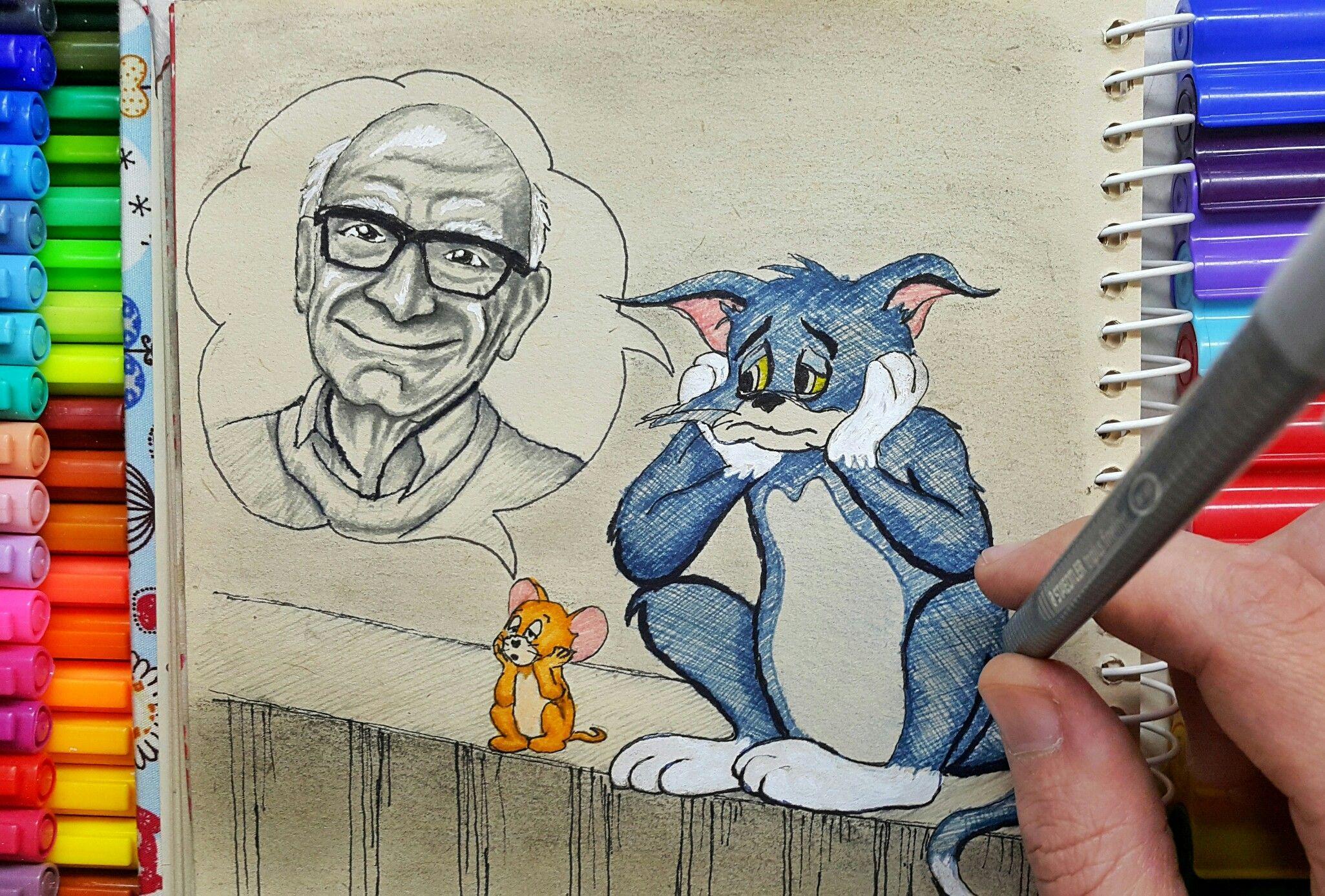Gene Deitch Dead Tom Jerry Director Childhood Memory Maker وفاة جين ديتش توم وجيري صانع ذاكرةالطفول Tom And Jerry Cartoon Captain Kangaroo Cartoon Drawings