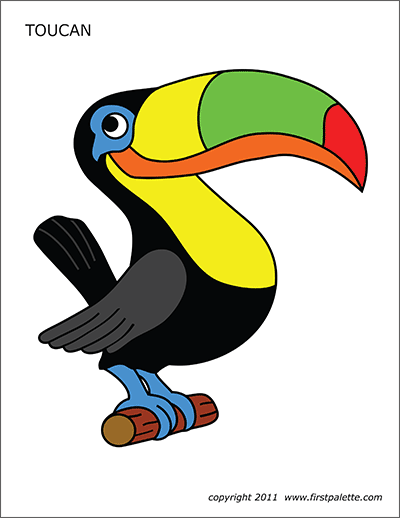 Toucan Free Printable Templates Coloring Pages Firstpalette Com Coloring Pages Toucans Toucan Craft