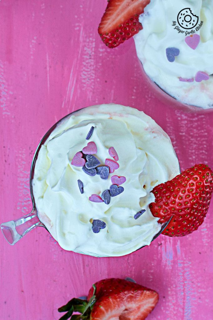 Strawberry White Hot Chocolate| mygingergarlickitchen.com/ @anupama_dreams