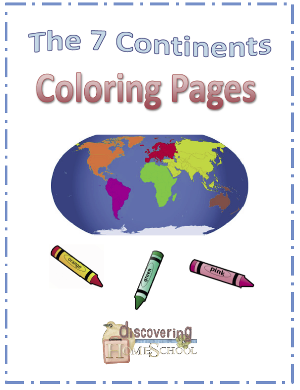 The Seven Continents Coloring Pages – FREE | Geography Ideas and ...