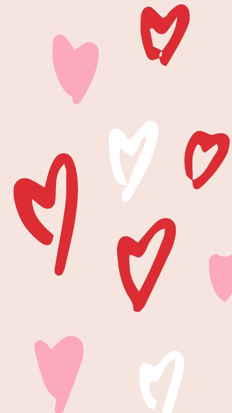 Phone Wallpaper Red Handyhintergrundbild Red White Amp Pink Hearts Phone Wallpaper 8426657802 Valentines Wallpaper Heart Wallpaper Aesthetic Iphone Wallpaper