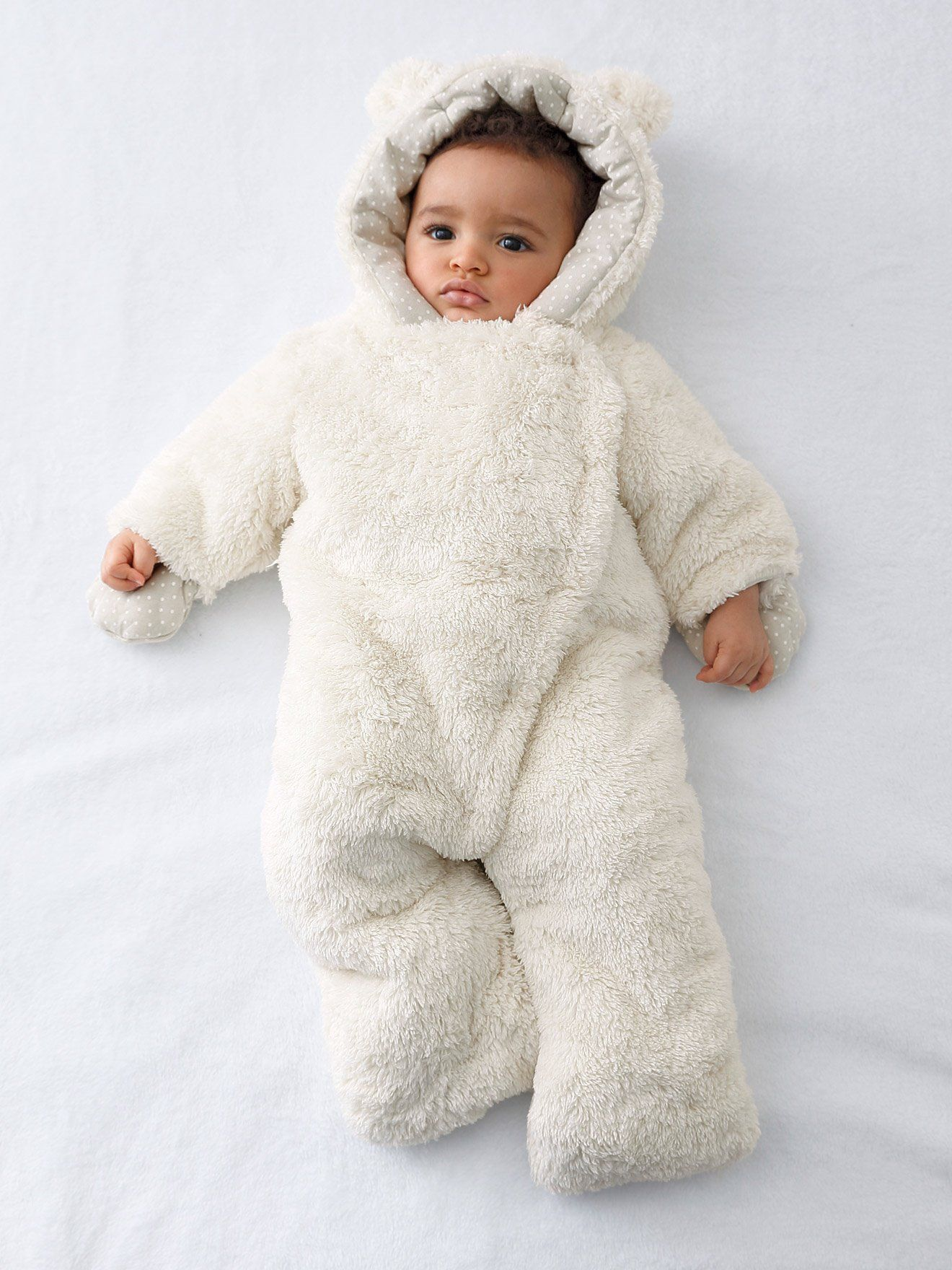 0cad0bb34 Newborn Faux Fur Convertible Snowsuit