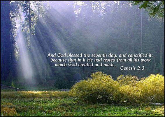 Kuvahaun tulos haulle Genesis 2:3