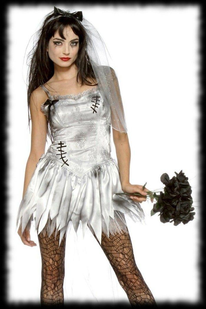 déguisement halloween facile femme zombie, zombie jeune mariée