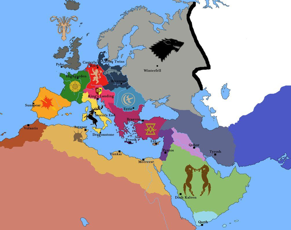 A reinterpretation of the game of thrones map in europe westeros is a reinterpretation of the game of thrones map in europe westeros is a large part gumiabroncs Image collections