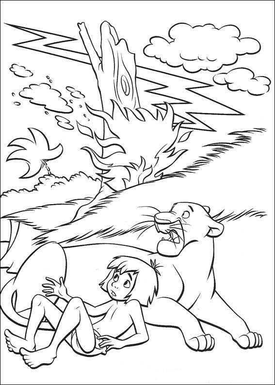 das dschungelbuch 25 ausmalbilder für kinder malvorlagen