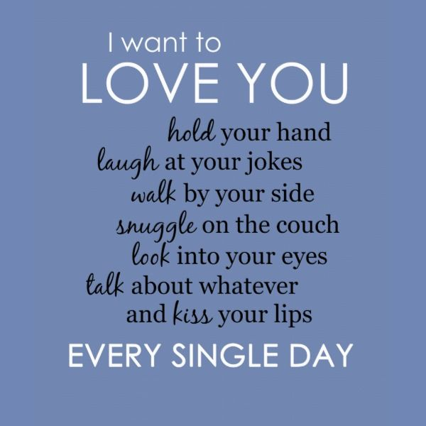 I Want to Love You Every Single Day Poster   Zazzle.com