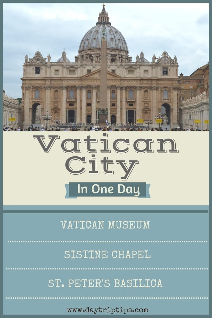 Day Trip From Rome To Vatican City (Itinerary)