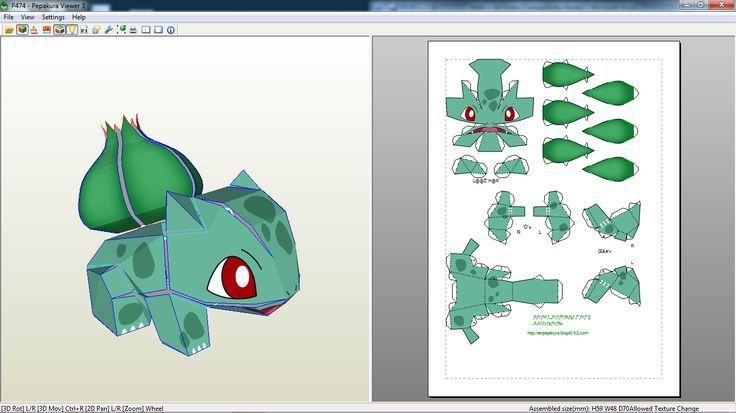Papercraft Pokemon Bulbasaur