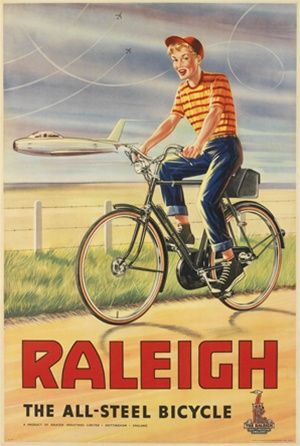 Raleigh 1960 England Beautiful Vintage Poster Reproductions