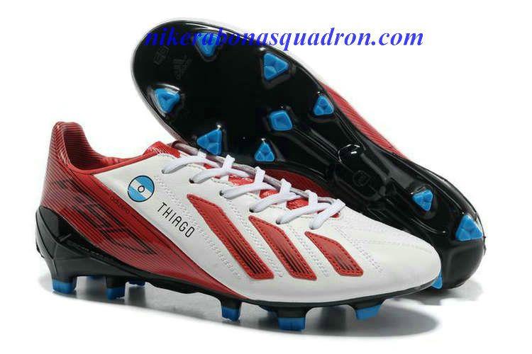 pretty nice 98e29 fb92f Cheap Soccer Shoes 2013 Chalcedony Pendant Adidas Adizero F50 Thiago L30 10  TRX FG Leather Cleats - White Light Scarlet Red